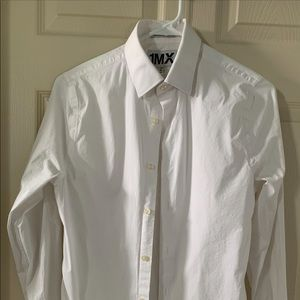 Express men's extra slim fit dress shirt
